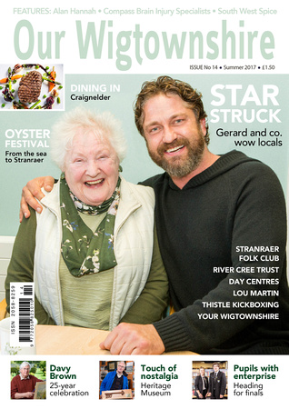 Our Wigtownshire Cover. Featuring Gerard Butler.